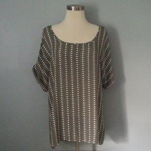Blank and cream print shirt